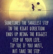 Take a step in the right direction